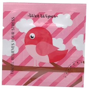 Colorful Square Wet Wipe Pack