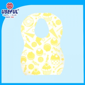 O-Shape 2 ply Disposable Baby Bib for Promotion