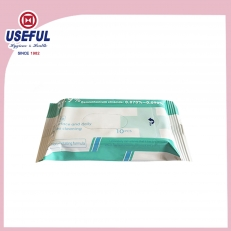 China Anti Bacterial Wet Wipe (10pcs) factory