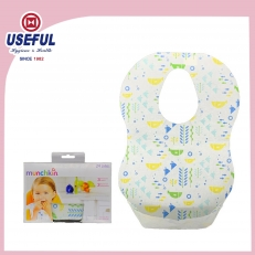 China O-Shape 3 ply Deslumbrante Baby Bib for Advertising fábrica