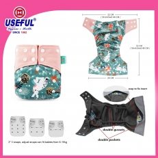 La fábrica de China Reusable Diaper-2